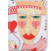 Mysterious person with heart balloon iPad Case/Skin