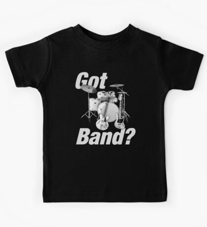 Beautiful Got Band White Kids Tee