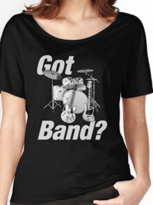 Beautiful Got Band White Women's Relaxed Fit T-Shirt