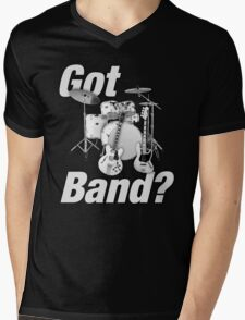 Beautiful Got Band White Mens V-Neck T-Shirt