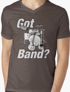 Beautiful Got Band White Mens V-Neck T-Shirt