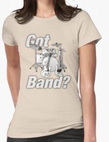 Beautiful Got Band White Womens Fitted T-Shirt