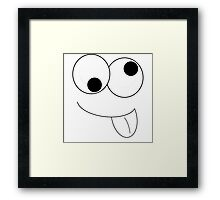Goofy Face with tongue Framed Print