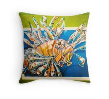 Lionfish comic Throw Pillow