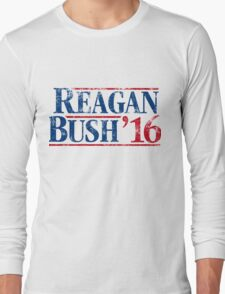 Distressed Reagan - Bush '16 Long Sleeve T-Shirt