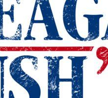 Distressed Reagan - Bush '16 Sticker