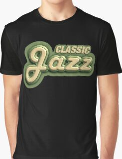Old Classic Jazz Graphic T-Shirt