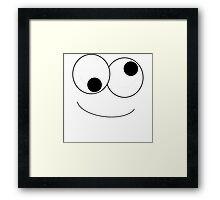 Goofy Face Framed Print