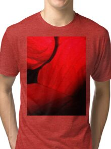 Romantic red leaves Tri-blend T-Shirt