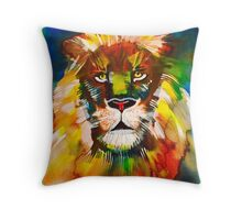 Lion j wagadorn Throw Pillow