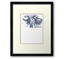 Don't Blink - Weeping Angel Framed Print