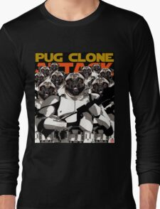 Pug Clone Attack Long Sleeve T-Shirt