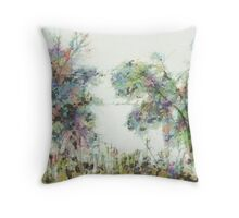 Colorful winter scene Throw Pillow