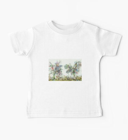 Colorful winter scene Baby Tee