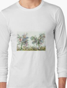 Colorful winter scene Long Sleeve T-Shirt