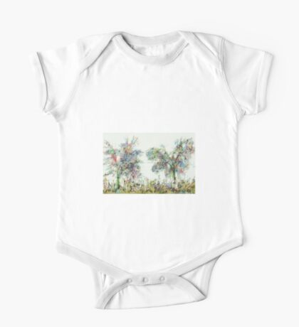 Colorful winter scene One Piece - Short Sleeve