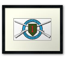1st Infantry Crossed Muskets Framed Print