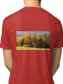 Autumn, Moosehead Lake, #6 Tri-blend T-Shirt