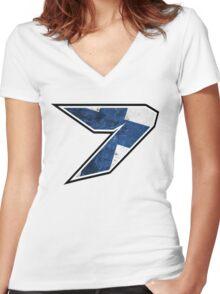 7 - Kimi Raikkonen, Finland Women's Fitted V-Neck T-Shirt