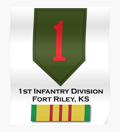 1st Infantry Vietnam Poster