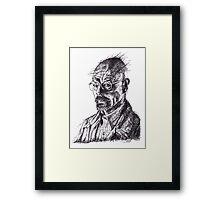 Walter White Breaking Bad Ink Portrait Framed Print