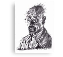 Walter White Breaking Bad Ink Portrait Metal Print