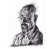 Walter White Breaking Bad Ink Portrait Photographic Print