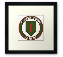1st Infantry Big Red One Framed Print