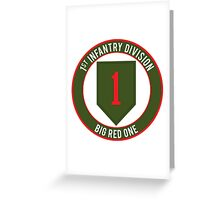 1st Infantry Big Red One Greeting Card