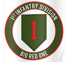 1st Infantry Big Red One Poster