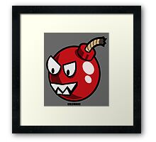 HAPPY TO BOMB YOU Framed Print