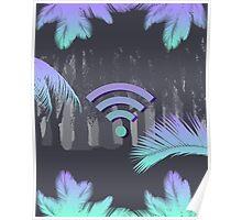 Vaporwave wifi forest Poster