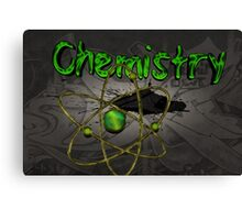 Famous humourous quotes series: Chemistry Graffiti with atom Canvas Print