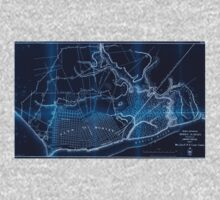 Civil War Maps 1500 Rebel defences Mobile Alabama occupied by Union forces under Maj Gen ERS Canby comdg Inverted One Piece - Long Sleeve