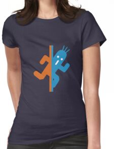 Cactuar in Testchamber (sf) Womens Fitted T-Shirt