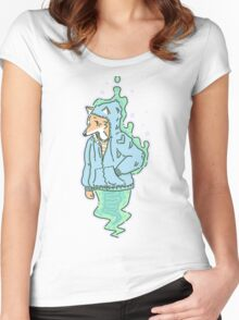 Slimey fox Ghost Women's Fitted Scoop T-Shirt