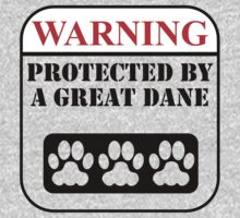 Warning Protected By A Great Dane One Piece - Long Sleeve