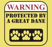 Warning Protected By A Great Dane Kids Clothes