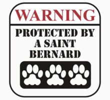 Warning Protected By A St. Bernard Baby Tee