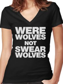 Werewolves, not Swearwolves Women's Fitted V-Neck T-Shirt
