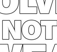 Werewolves, not Swearwolves Sticker