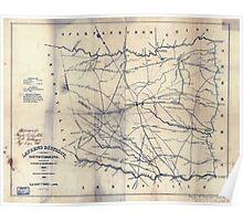 Civil War Maps 0549 Laurens District South Carolina Poster