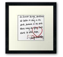 Grey's anatomy- best quote Framed Print