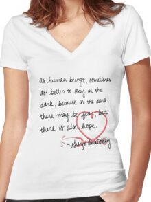 Grey's anatomy- best quote Women's Fitted V-Neck T-Shirt