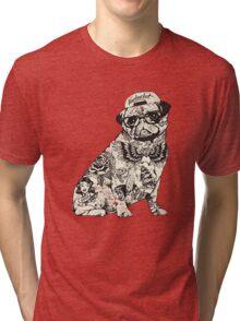 Pug Tattoo Tri-blend T-Shirt
