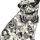 Pug Tattoo by Huebucket