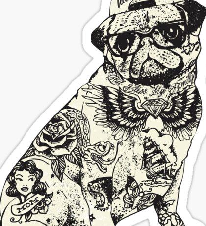 Pug Tattoo Sticker