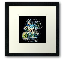 Riding is fun Enjoy life with a bicycle.  Framed Print