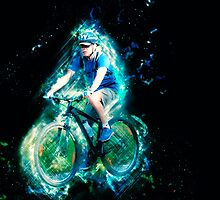 Riding is fun Enjoy life with a bicycle. by PhotoStock-Isra
