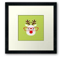 Hipster Reindeer Framed Print